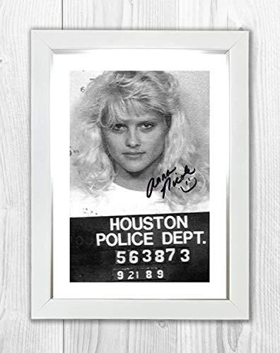 Engravia Digital Anna Nicole Smith Mug Shot Poster Reproduction Autgraph Photo A4 Print(White Frame)