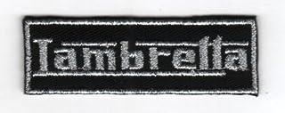 Toppa ricamata termoadesiva lambretta Name logo scooter mod badge