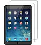 WEOFUN 2 Unidades iPad Air 1/2/ iPad Pro 9.7 Protector de Pantalla, Cristal Templado para iPad Air 1/ iPad Air 2/ iPad Pro 9.7 2017/2018 Protector Vidrio Templado [0.33mm, 9H, Alta Definicion]