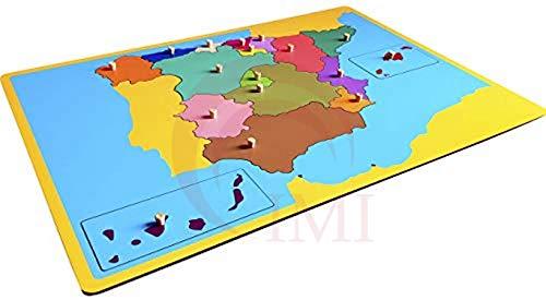 International Montessori Institute- Mapa Puzzle De España en Madera