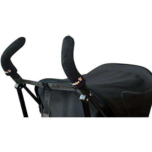 Citygrips - Maniglia a barra doppia per passeggino, colore: Nero