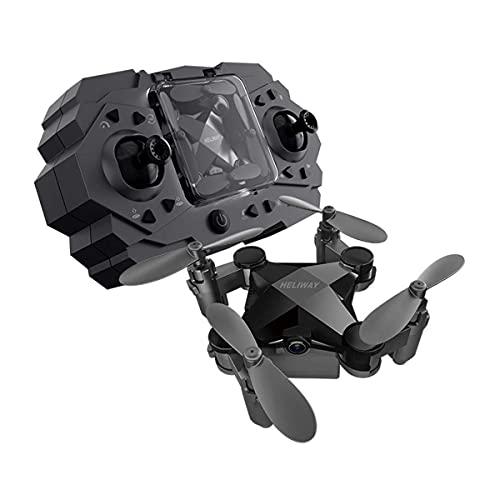 Mini Drone Pieghevole, Quadcopter telecomandato per Fotografia Aerea Formato Tascabile, Volo a Lunga Durata a 360°, Interruttore di velocità, per Giocattolo da Ragazzo