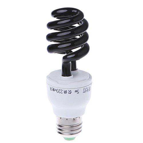 BUIDI E27 5/15 / 20W UV Ultraviolett Fluoreszierendes Schwarzlicht CFL Glühlampe Lampe 220V Linsenring