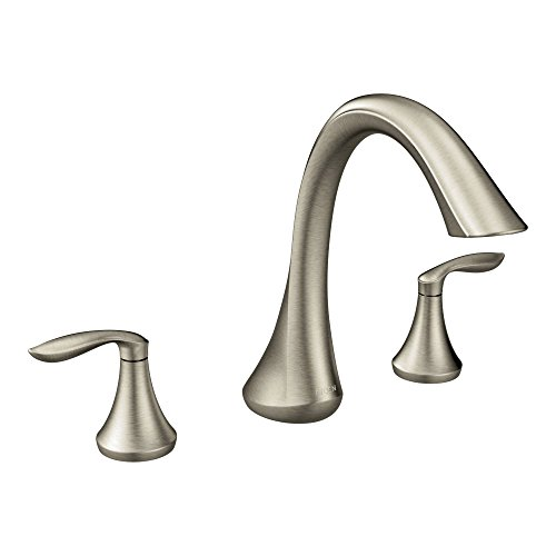 MOEN T943BN Eva Collection Two Handle Deck Mount Roman Tub Faucet Trim...