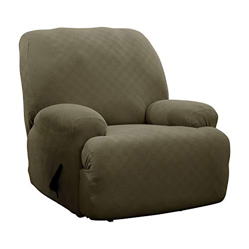 Stretch Sensations, Newport Jumbo Recliner Slipcover, Oversized Recliners, Perfect Chair Protection, Comfortable Easy Stretch Fabric (Sage)