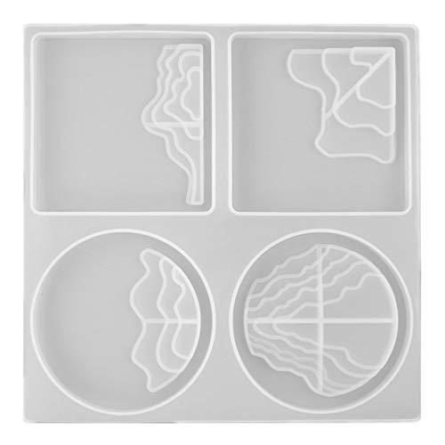 Healifty Epoxidharz Formen Untersetzer Silikonform DIY Unregelmäßige Glasuntersetzer Getränkeuntersetzer Tablett Untersetzer Gießform Handwerk Herstellung Zubehör