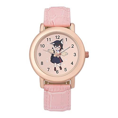 大神ミオ (1) 腕時計 可愛い 安い 柔らかいベルト 本革 PANMAX ガールズ レディース 女子 学生 キッズ ウォッチ 誕生日 成人式 新学期 プレゼント キャラクター グッズ