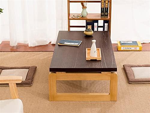 SHUJINGNCE Table Basse de Style Jambes en Bois Rectangle Pliable Rectangle 110 / 120cm Table à thé en Bois Multifonction pour Salon Table Cocktail (Color : 110x55x38cm)
