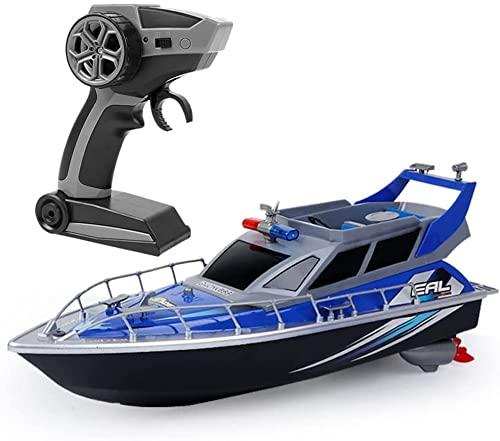 Liiokiy Distancia de control remoto 80m, alta velocidad Rc Nave con una velocidad de 1 5km / h Por hora, regalos for niños 2.4g Barco de control remoto eléctrico inalámbrico, Rc Coto rápido con diseño