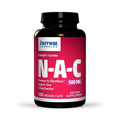 Jarrow Formulas | NAC | N-Acetyl-L-Cystein | 500 mg | 100 Kapseln | Vegetarisch | hochdosiert | ohne Gentechnik | Glutenfrei | Sojafrei