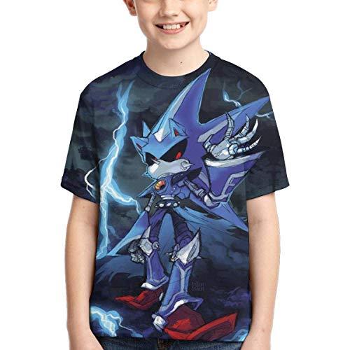 YYTY New Sonic The Hedg-Ehog T Shirt Ragazzi Manica Corta Maglietta O-Collo Traspirante ad Asciugatura Rapida Bambini Moda Casual T-Shirt Gioventù