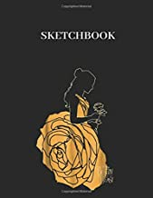 Sketchbook: Disney Beauty The Beast Belle A Rose Dress Graphic Large Size 8.5in x 11in x 109 pages Unlined Pages Sketchbook White Paper Blank Journal ... Cover Marble for Kids or Men and Women Uncle