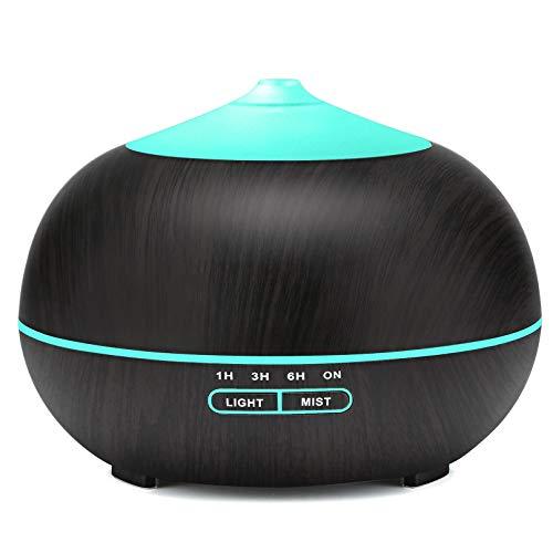 Difusor de aceites Esenciales, humidificadores ultrasónicos de Niebla fría, Apagado automático del difusor de Aromas sin Agua, humidificador de Ciclo de 7 Luces LED para Oficina en casa, etc.