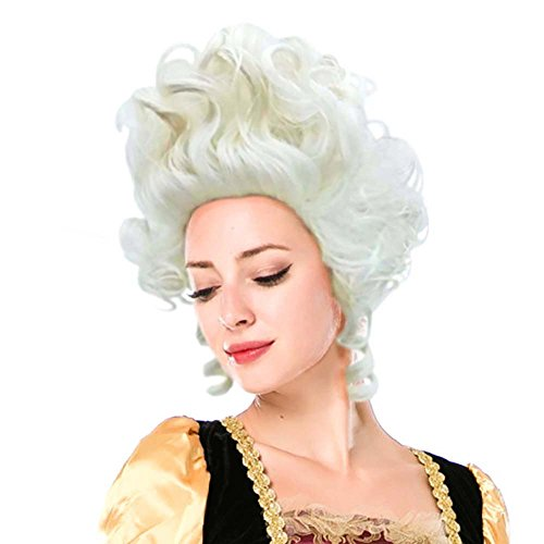 Wraith of East Colonial Wigs Ladies 18th Century Marie Antoinette Cosplay Adult Women, Silver