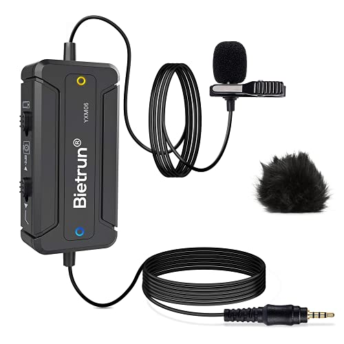 Bietrun Lavalier Omnidirectional Condenser Microphone with Noise Cancellation