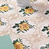 Tafelbestecke Lace Tischdecken Bestickt Tischdecke Stoff Tischtuch Tischdecke nach Hause Geeignet für Esstisch (Color : Yellow, Specification : 60x120cm)