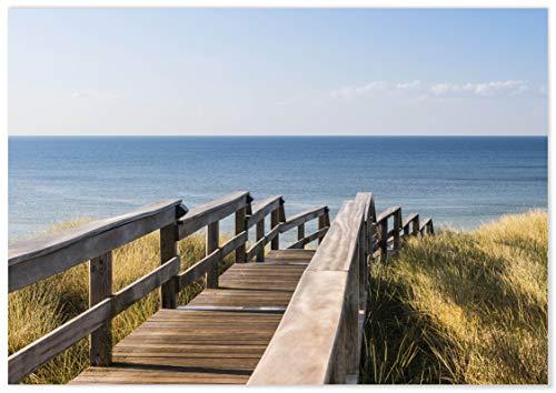 Panorama Lienzo Isla de Sylt 70 x 50 cm - Impreso en Lienzo Bastidor - Cuadros Paisajes - Cuadros Zen - Cuadros Decoración Salón - Cuadros para DormitoRío
