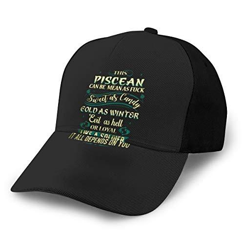 N/ This Piscean Can Be Mean As Fuck - Gorra de béisbol, color negro