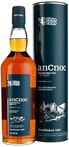 AnCnoc 24 Years Old mit Geschenkverpackung Whisky (1 x 0.7 l)