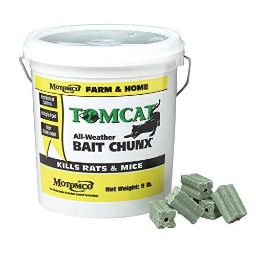 Motomco 144212 Tomcat All Weather Bait Chunx, 4 Lb, Brown/A