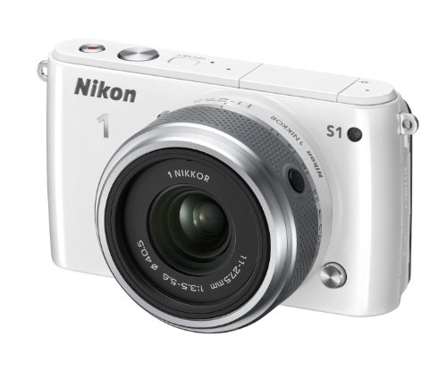 Nikon 1 S1 Systemkamera (10 Megapixel, 7,6 cm (3 Zoll) LCD-Display, Full HD) Kit inkl. 1 Nikkor 11-27,5 mm weiß