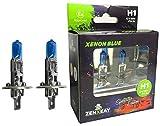 ZENXEAY H1 Xenon Blue Sportscar Edition, lampadine alogene, 12 V 55 W, effetto xeno, lampadine super bianche, confezione da 2