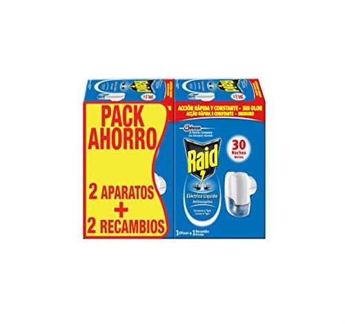RAID - Insecticida Eléctrico Antimosquitos 2 Aparatos + 2 Recambio