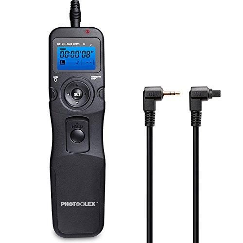 PHOTOOLEX T710C Telecomando Intervallometro Scatto Remoto LCD Timer per Canon EOS 1300D   1200D   1100D   1000D   750D   700D   650D   600D   550D   500D   450D   100D   5D Mark II   7D   70D etc.
