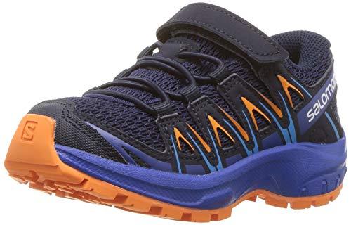 Salomon XA Pro 3D K, Zapatillas de Deporte Unisex Niños, Azul/Naranja (Medieval Blue/Mazarine Blue Wil/Tan), 27 EU