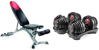 Bowflex SelectTech 552 Adjustable Dumbbells (Pair) and Series 3.1 Bench Bundle