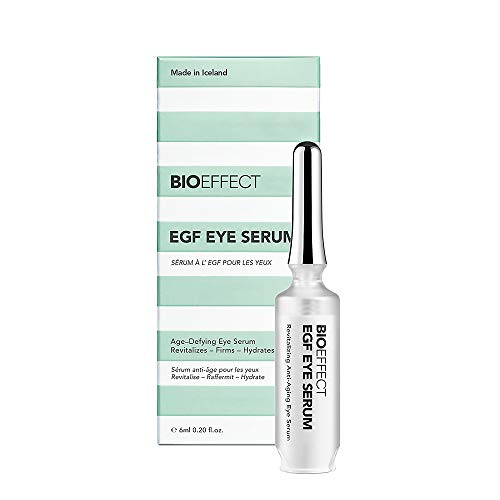 BIOEFFECT EGF Eye Serum with De-Puffer Rollerball, Anti-Aging Corrective, Lifting and Moisturizing Contour Gel, Reduce Under-Eye Bags, Wrinkles, Puffiness, Fine Lines with Barley Growth Factor Protein