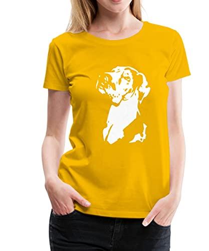 Spreadshirt Deutsche Dogge Frauen Premium T-Shirt, XL, Sonnengelb
