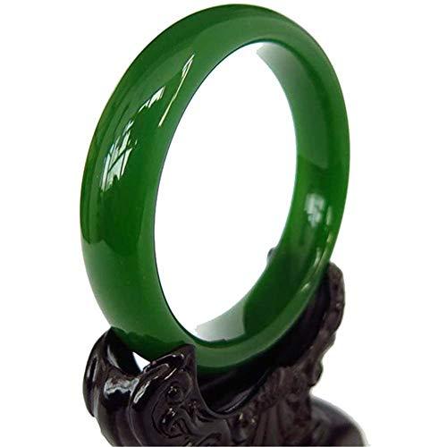 Bracelet Damen Jade-Grün-Jade-Armband Natürliche Hetian Jade-Armband Hand poliert Schmuck,XL