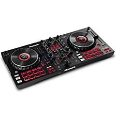 Complete Serato DJ System – DJ Controller for Serato DJ Lite (Included) with 4 decks of control, built-in 24-bit audio interface and plug and play USB connectivity for Mac and PC Visualize Your DJ Mix – Large 6-inch capacitive-touch jog wheels with h...
