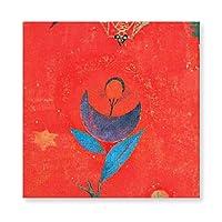 INOV パウルクレー 芸術-神話 パウルクレー 有名な絵画 ファブリックパネル アートパネル 壁掛け ウォールパネル アート パネル 飾り 40x40cm