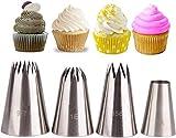 FUROO Juego de decoración de Pasteles, 4 Piezas de Acero Inoxidable boquillas de boquillas de boquillas de boquillas de Navidad de cumpleaños Aniversario Boda Bricolaje Herramienta de Boquilla para