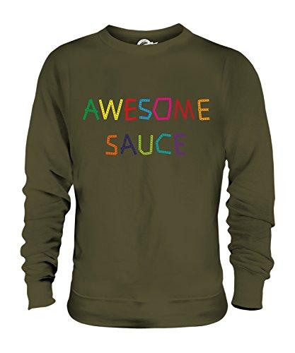 Candymix Awesome Sauce Unisex Herren Damen Sweatshirt, Größe Medium, Farbe Khaki Grün