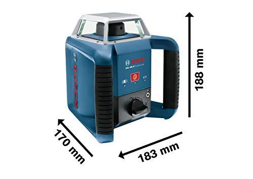 Bosch Professional Rotationslaser GRL 400 H (Ein-Knopf-Bedienfeld, max. Arbeitsbereich: 400 m, in Handwerkerkoffer) - 4
