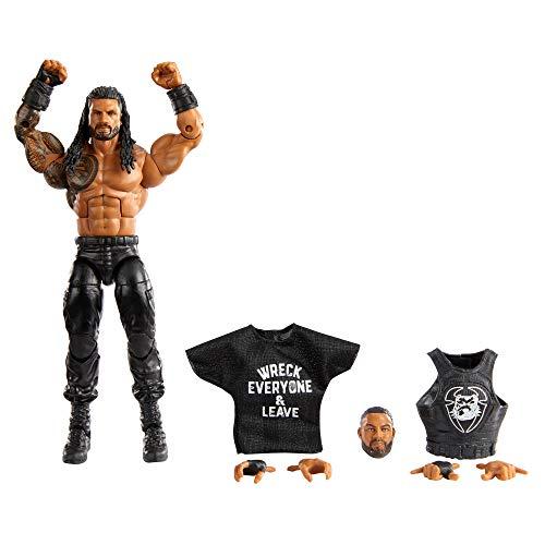 WWE Élite Figura Roman Reigns, muñeco articulado de juguete con accesorios, regalo para niños +8 años (Mattel GVB63)