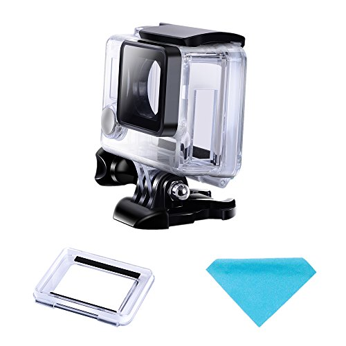 Suptig Protective case Charging case Wire Connectable Skeleton Protective Side Open Housing case Compatible for GoPro Hero 4 Hero 3+ Hero 3 Camera