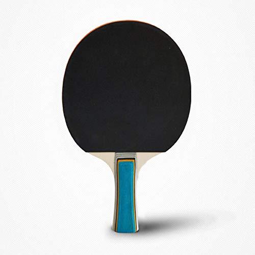 2 raquetas de tenis de mesa con mango largo y tecnología de carbono
