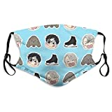 Yuri!!! On Ice face mask Washable And Reusable Windproof Masks For Men And Women The Adjustable
