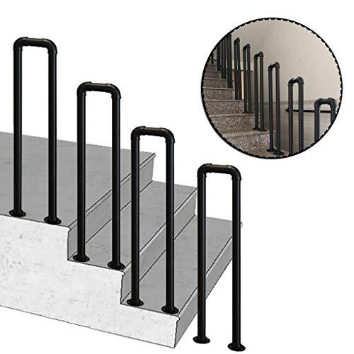 YFF-Corrimano Ringhiere per Scale Ringhiere in Ferro battuto Antiscivolo per Esterni con Kit di Installazione Supporto per ringhiera Industriale a 1 o 4 gradini