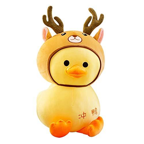 Ycco Kawaii gelbe Ente Plüschtiere Puppe Figurine Plüsch-Spielzeug for Kinder nette große gelbe Ente Plüschtiere Schlaf Hugging Kissen for Weihnachten Geburtstag Baby-Geschenk-Fotografie Props Größe 2