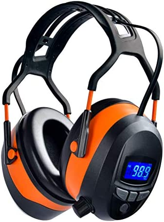 UPGRADED Safety Ear Muffs with Bluetooth Radio Hearing Protection Radio Ear Muffs Mowing Headphones product image