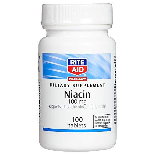 Rite Aid Niacin, 100mg - 100 Tablets   Vitamin B3 Supplement