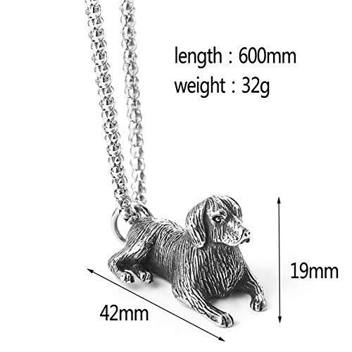 wangzz Nette Bulldogge Halskette Labrador Retriever Hund Tier Anhänger Halskette Charm Halsreif Coole Mode Männer Schmuck Als Geschenk