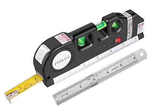 Laser level Multipurpose Laser Tape Measure Line 8ft Tape Measure Ruler Adjusted Standard and Metric Rulers Update Batteries MICMI