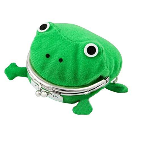 Funnyrunstore Creative Cartoon Frog Monedero Naruto Wallet Anime Monedero Green Frog Wallet Jj11026 Verde