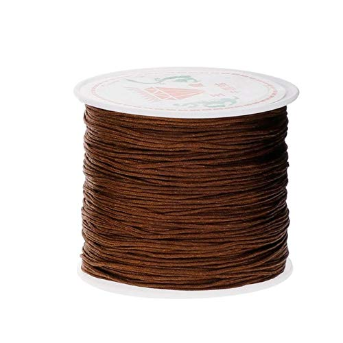 XiaoOu Bracelet Thread 0.8mm 45M/Roll Nylon Cord Thread Knot Macrame Rattail Bracelet Braided String,Light Coffee